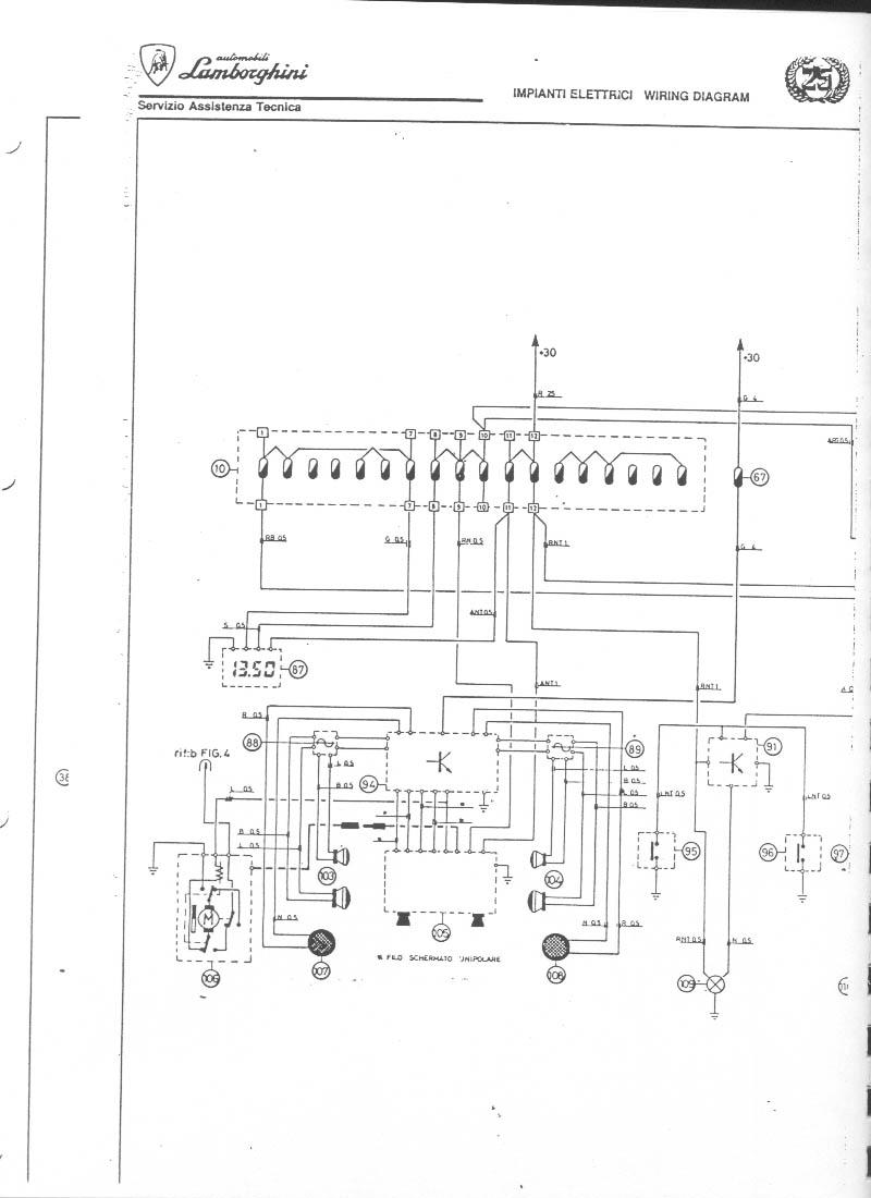 Lamborghini Countach 25th Electric Wiring